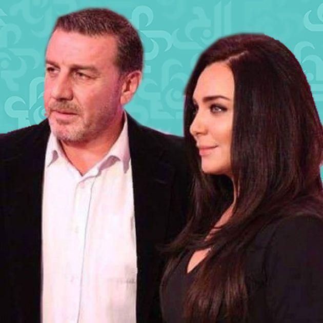 وائل رمضان يصف زوجته سلاف فواخرجي بالصديقة - صورة