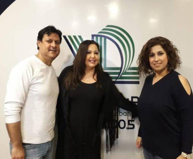 اندرية داغر لبنا رضوان سيدة عرب في مبنى إذاعة صوت لبنان
