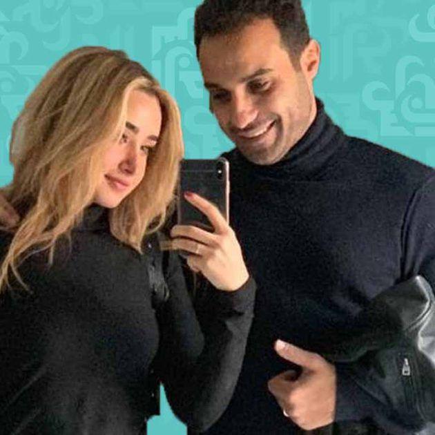 الأسود يجمع هنا الزاهد وزوجها أحمد فهمي ودلالته؟ - صورة