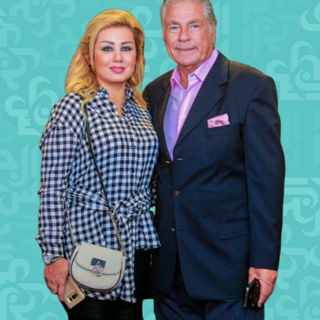 مصطفى فهمي يبكي بعقد قران ابنته ويقبل زوجته اللبنانية - فيديو