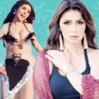 نجلاء بدر أعجبها صدر الراقصة دينا - صورة