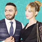 نظرة تامر حسني لزوجته تثير الغيرة - فيديو