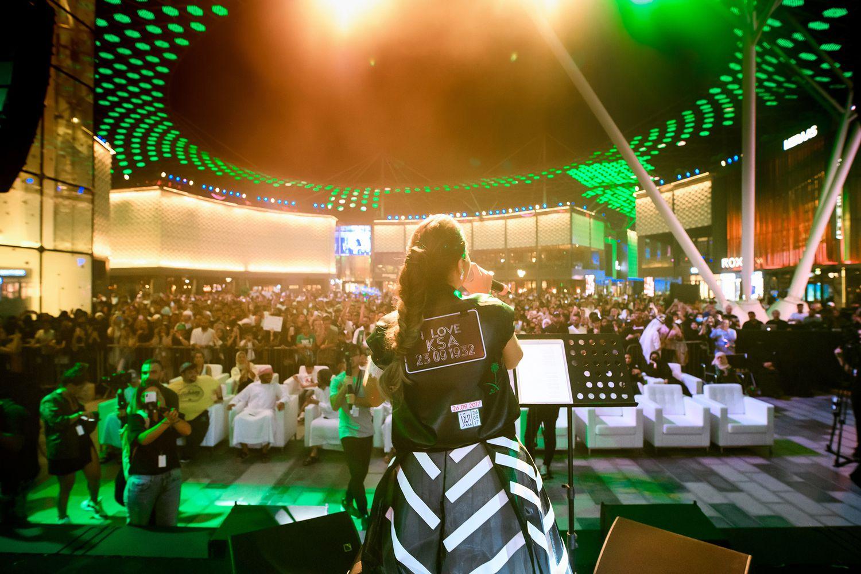 بلقيس تغني للشعب السعودية
