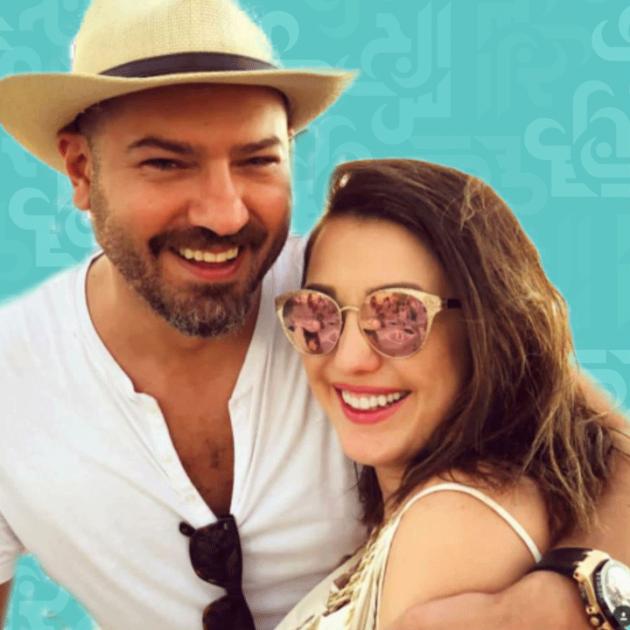 كندة علوش تقبّل عمرو يوسف وكيف نجح زواجهما؟ - صورة