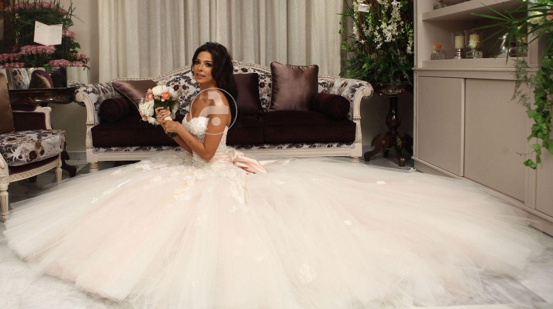 فستان نادين نجيم يوم عرسها