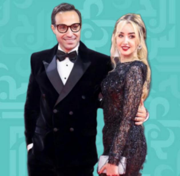 أحمد فهمي ما سرّ سعادته مع زوجته هنا الزاهد؟ - صورة