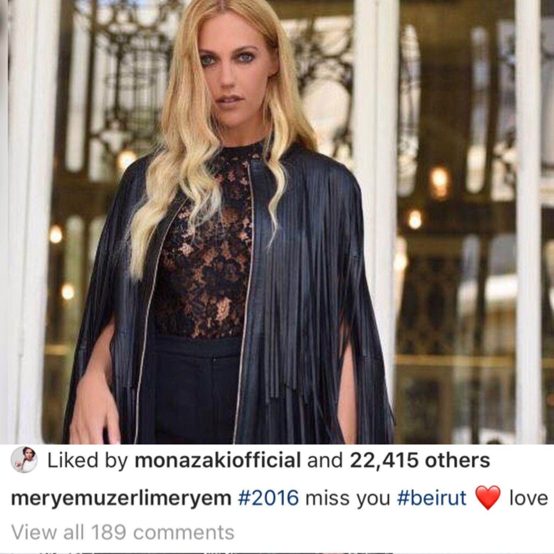 مريم اوزرلي اشتاقت لبيروت