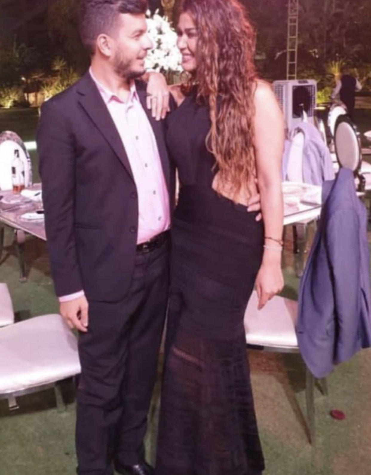 نادين الراسي مع خطيبها