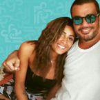 عمرو دياب يرقص مع دينا الشربيني - فيديو