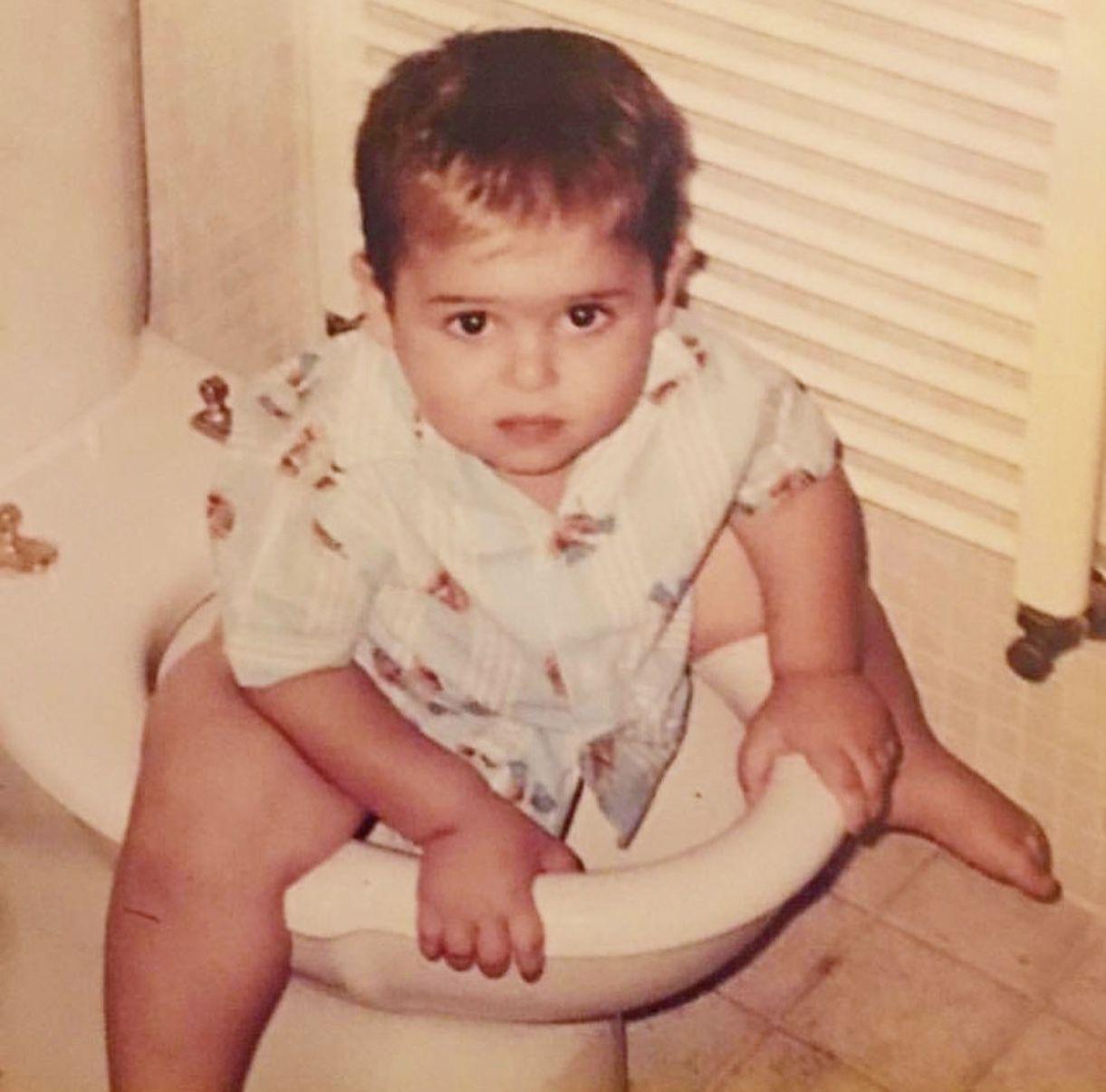 الوليد الحلاني حين كان طفلًا