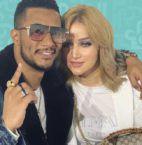 محمد رمضان مع زوجته الجميلة