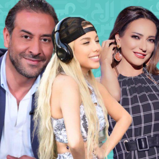ردّة فعل أمل عرفة بعد خطوبة طليقها من المغنية اللبنانية - صور العروس