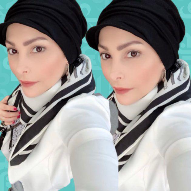 أمل حجازي تسأل عن طريقة حجابها؟ - صورة