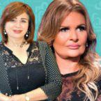 انهيار يسرا والهام شاهين في عزاء حسني مبارك - صورة