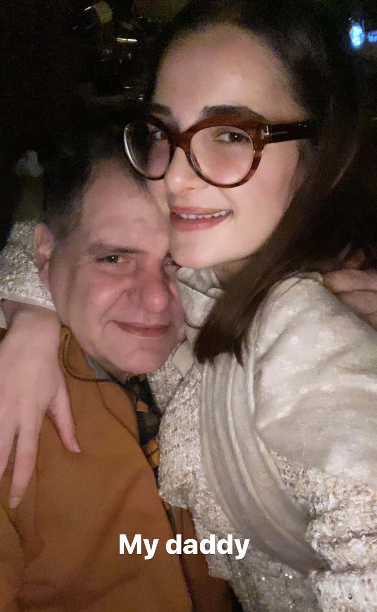 شام الذهبي مع والدها أيمن