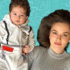 فهرية أفجان مع طفلها