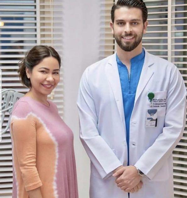 شيرين بأحدث صورة مع طبيبها الوسيم