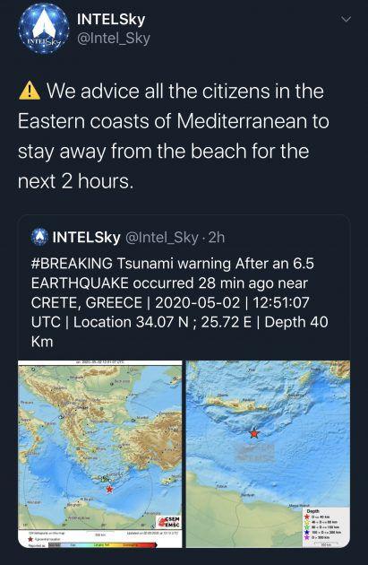 خطر حدوث تسونامي في المدن المطلة على البحر الأبيض المتوسط