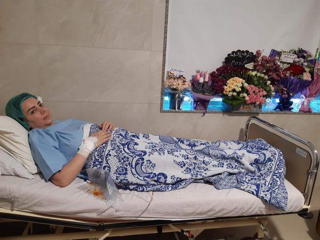 الصورة الأولى لشكران مرتجي في المستشفى