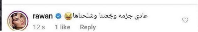 ما كتبته روان بن حسين