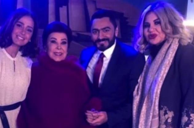 رجاء الجداوي وحلا شيحة وتامر حسني