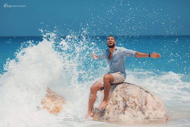 محمد الشرنوبي بإطلالة صيفية