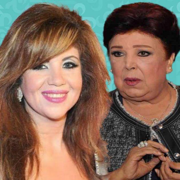 بوسي شلبي أمام قبر رجاء الجداوي