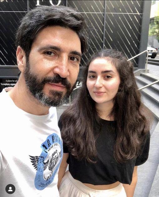 وسام صباغ مع ابنته