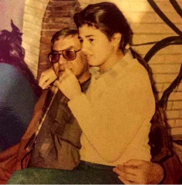 رانيا فريد شوقي ووالدها الراحل