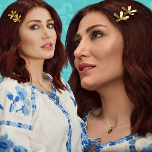 هبة نور بالقميص فقط - صورة