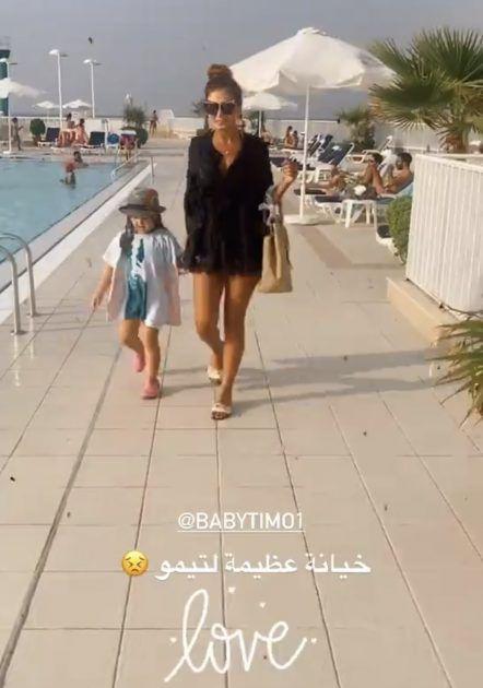 هبة نور مع ابنة معتصم النهار