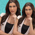 نادين الراسي وخطيبها الرجل يمشط شعرها - صورة