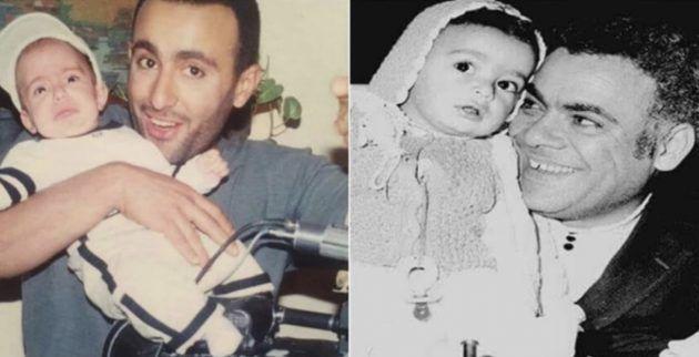 أحمد السقا وابنه