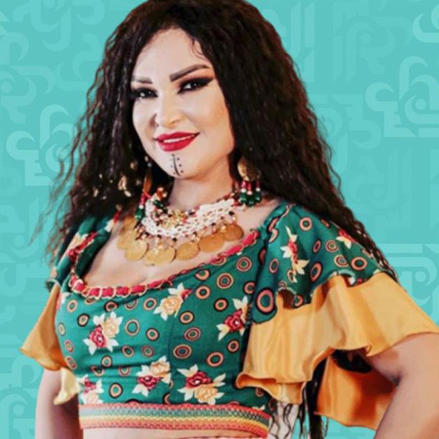نجلاء التونسية تلطخ وجهها بالدماء - صورة