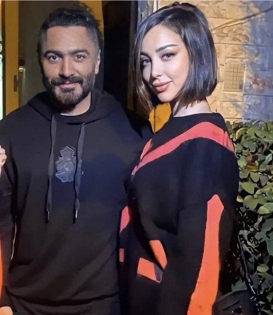 تامر حسني وبسمة بوسيل بأحدث ظهور بعد العودة - صورة