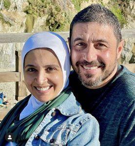 حنان ترك مع زوجها الخامس - صورة   مجلة الجرس