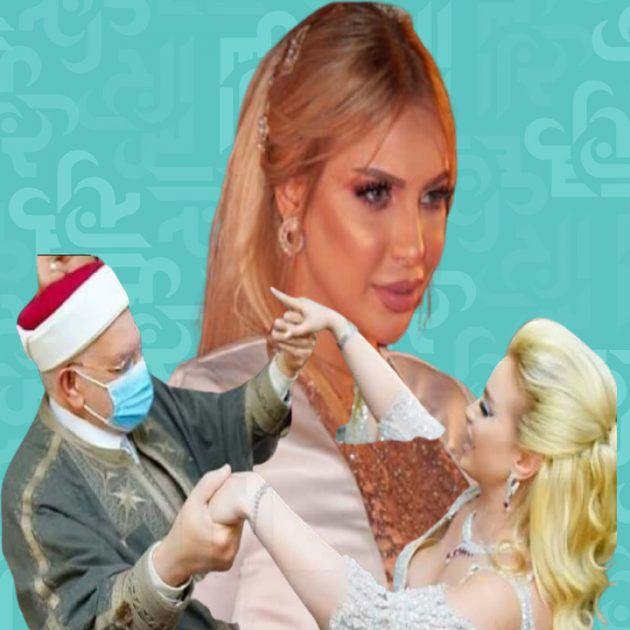 الشيخ يراقص فنانة تونسية في حفل خطوبتها - صورة