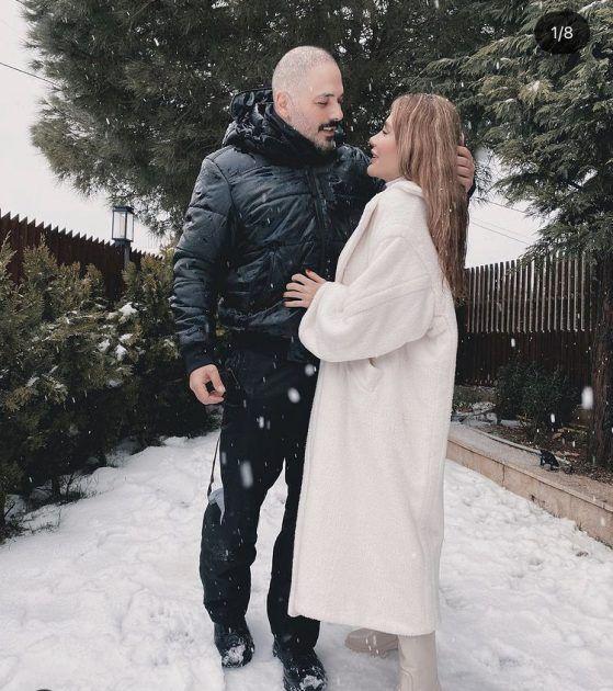 رومانسية رامي عياش وداليدا وسط الثلوج - صور