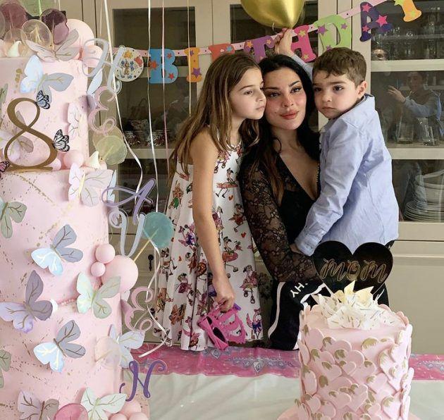 نادين نجيم تحتفل بعيد ابنتها - صورة