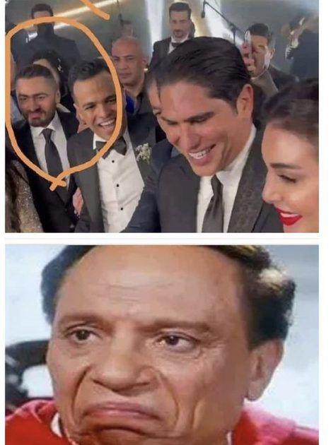 تامر حسني هل تعمد أن ينظر هكذا لأبو هشيمة؟ - صورة