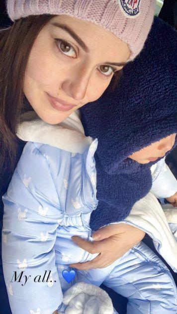 فهرية أفجان وطفلها