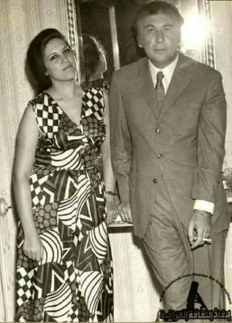 نزار قباني وزوجته