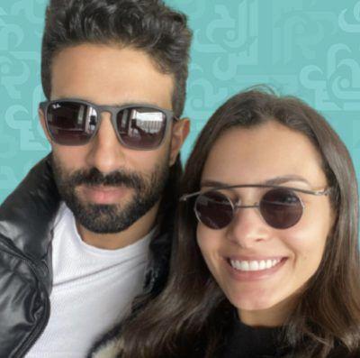 كارمن سليمان مع زوجها من منزلهما وكيف يدعمها! - صور