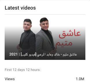 مليون خالد وعابد المرعي الأول