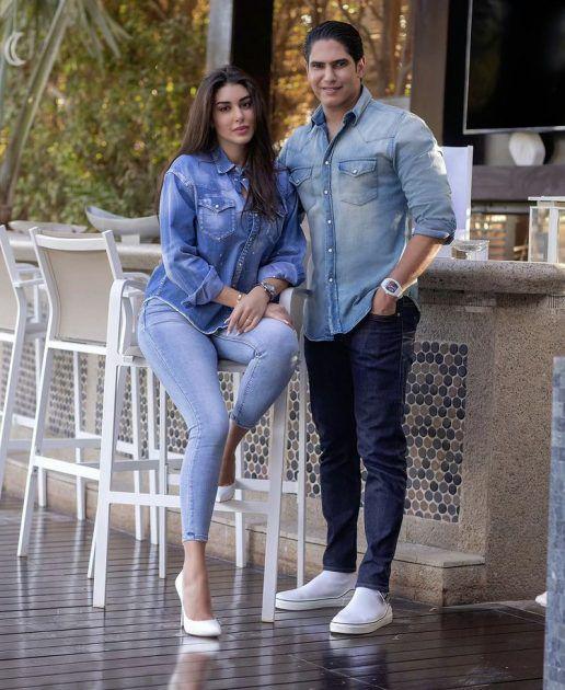 ياسمين صبري وأبو هشيمة يحتفلان بعيد زواجهما - صورة