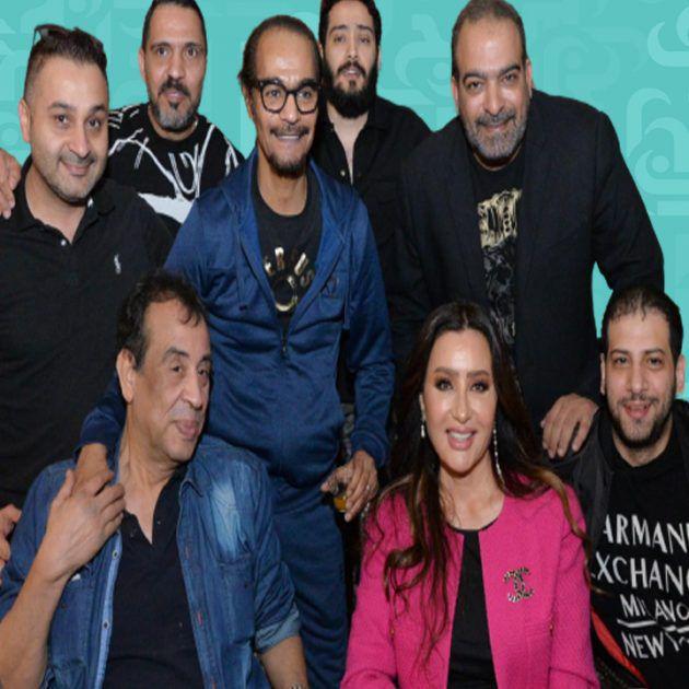 رابح صقر والنجوم في إفطاره في القاهرة