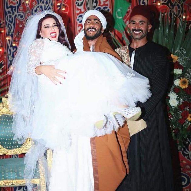 زفاف محمد رمضان وسمية الخشاب بحضور أحمد سعد! - صورة