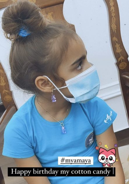 بسمة بوسيل تحتفل بعيد ابنتها أمايا - صورة