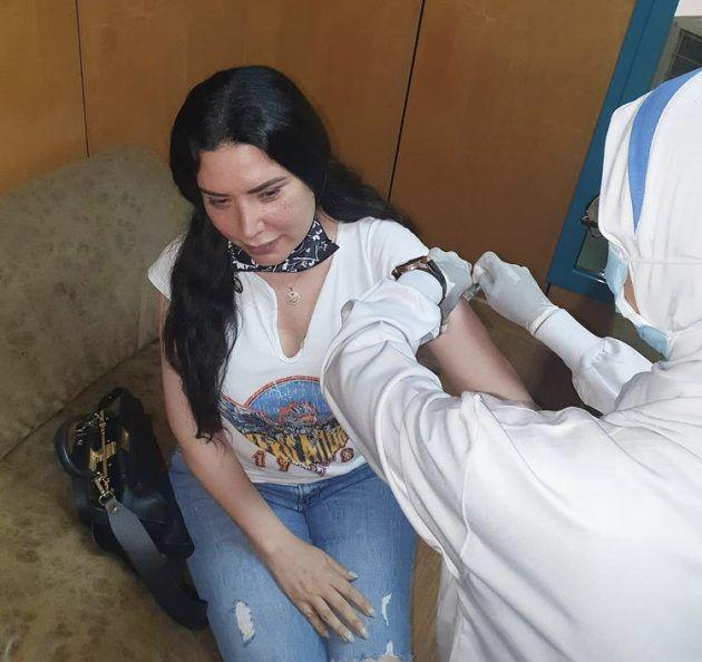 عبير صبري أخذت اللقاح وتخشى الحسد - صورة
