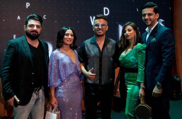 حاتم عمرو مع ضيوفة في المؤتمر الصحافي